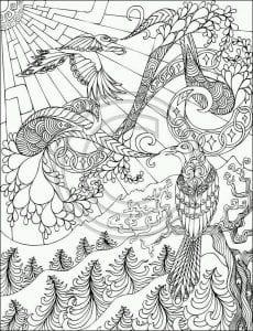 -картинка-раскраска5-230x300 Павлины