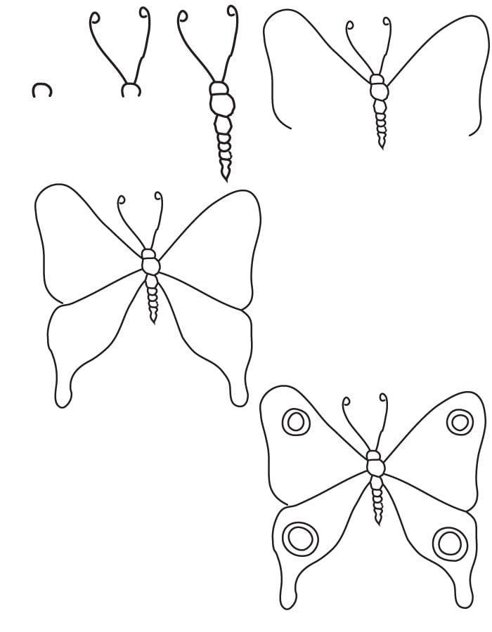 Бабочка легкий рисунок