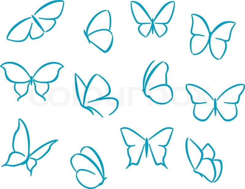 -бабочки Как нарисовать бабочку поэтапно