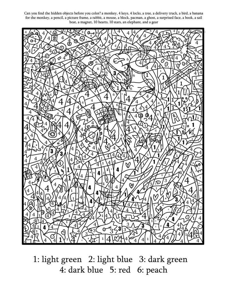 Раскраски по номерам для взрослых (3)