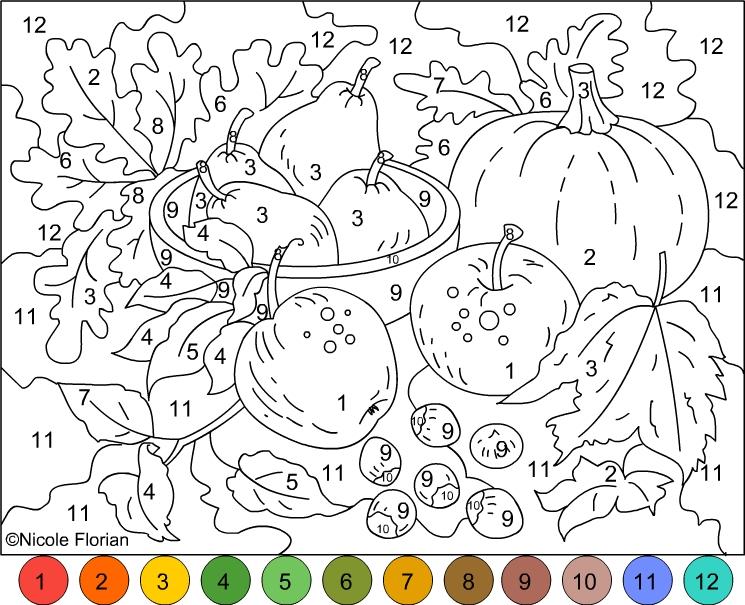 Раскраски по номерам для взрослых (8)