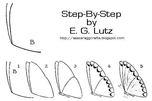 -бабочек Как нарисовать бабочку поэтапно