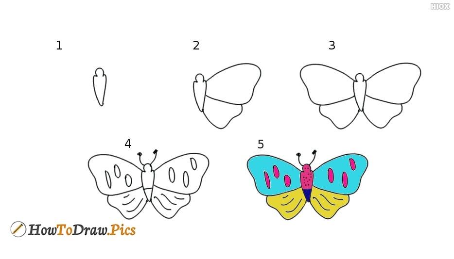 Рисуем бабочку с ребёнком