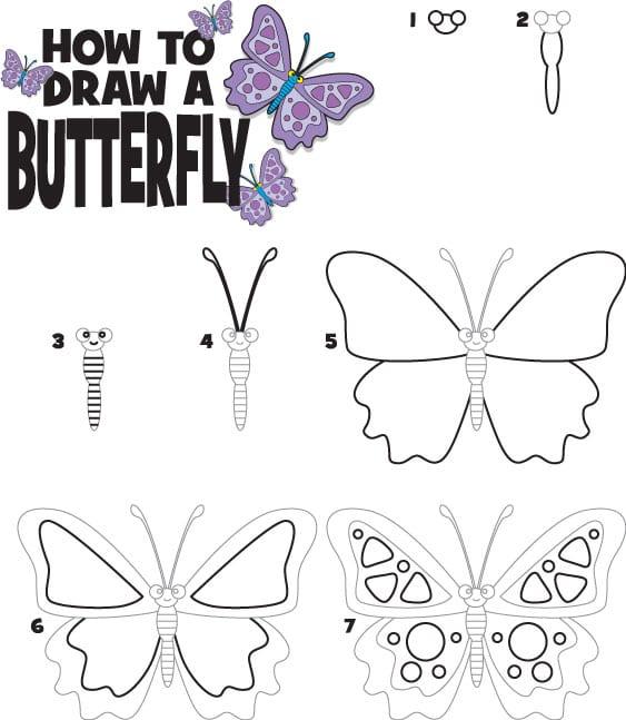-красивую-бабочку Как нарисовать бабочку поэтапно