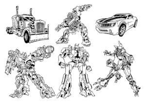 Автоботы картинки раскраски (14)