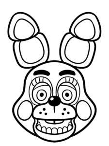 Аниматроники бонни картинки раскраски (1)