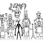 Аниматроники бонни картинки раскраски (15)