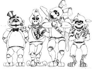 Аниматроники бонни картинки раскраски (16)