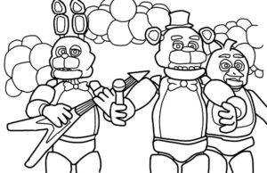 Аниматроники бонни картинки раскраски (6)