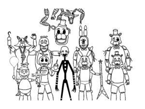 Аниматроники картинки раскраски (45)