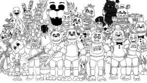Аниматроники картинки раскраски (48)