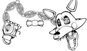 Аниматроники мангл картинки раскраски (13)