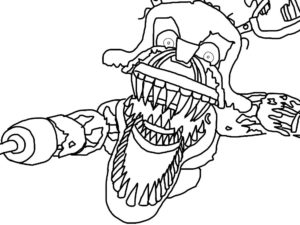 Аниматроники мангл картинки раскраски (15)