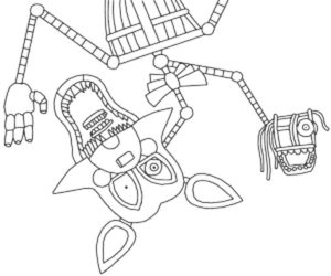 Аниматроники мангл картинки раскраски (4)