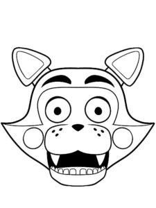 Аниматроники фокси картинки раскраски (14)