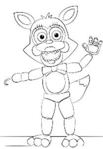 Аниматроники фокси картинки раскраски (28)