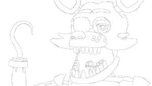 Аниматроники фокси картинки раскраски (36)