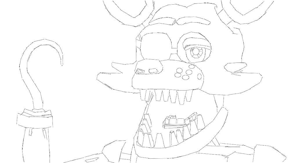 аниматроники фокси картинки раскраски 36 рисовака