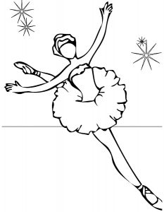 Балерины раскраски (1)