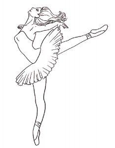 Балерины раскраски (11)
