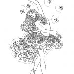 Балерины раскраски (12)