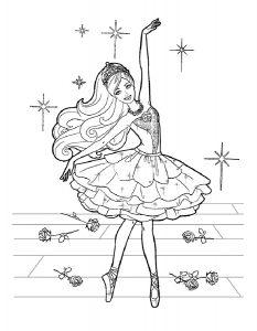 -раскраски-13-233x300 Балерины