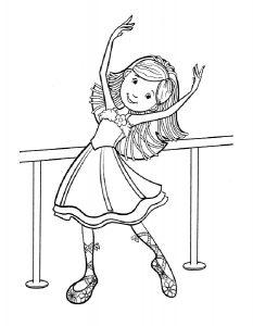 Балерины раскраски (14)