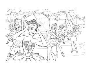 Балерины раскраски (15)