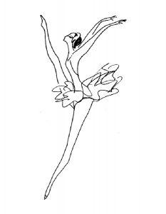 Балерины раскраски (16)