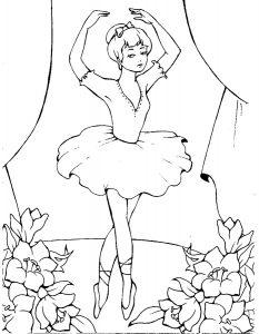Балерины раскраски (18)