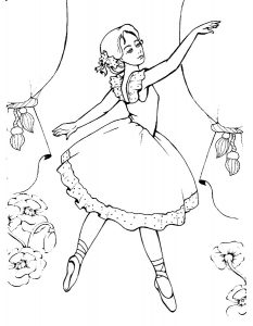 Балерины раскраски (19)