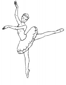 Балерины раскраски (2)