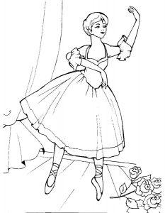 Балерины раскраски (20)