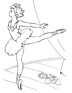 Балерины раскраски (21)