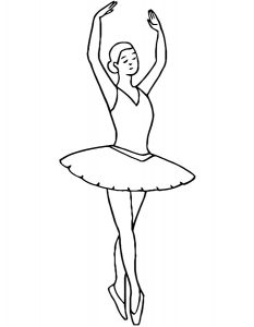 Балерины раскраски (22)