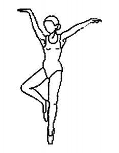 Балерины раскраски (23)