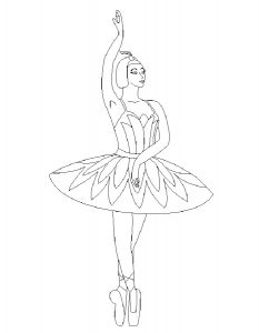 Балерины раскраски (24)