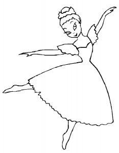 Балерины раскраски (25)