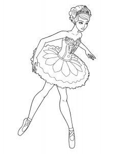 Балерины раскраски (26)