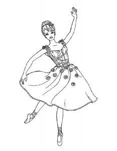 Балерины раскраски (28)