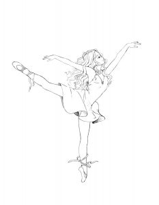 Балерины раскраски (29)