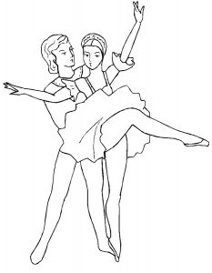 Балерины раскраски (3)
