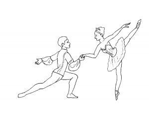 Балерины раскраски (30)