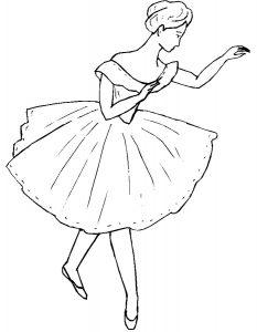 Балерины раскраски (31)