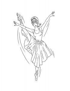 Балерины раскраски (32)