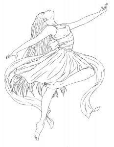 Балерины раскраски (36)