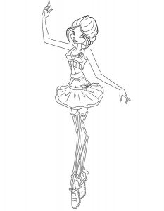 Балерины раскраски (37)