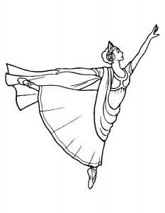 Балерины раскраски (4)