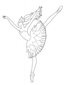 Балерины раскраски (5)
