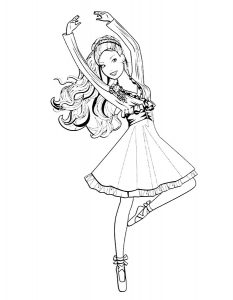 Балерины раскраски (6)